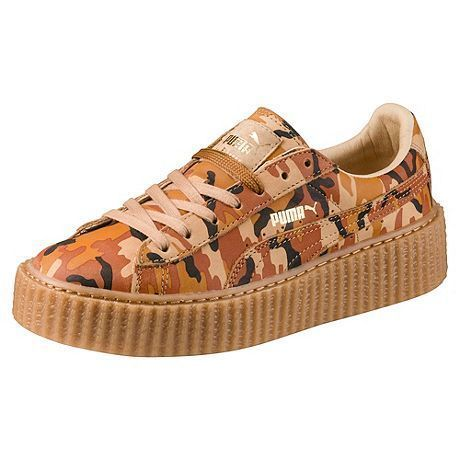 Rihanna Creeper Sneakers - Desert Military Style Camouflage - by PUMA