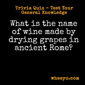 Wine Trivia Questions_Ancient Roman Grape Resin Wine
