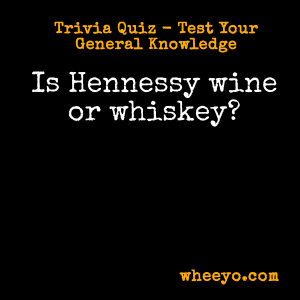 Wine Trivia Questions_Hennessy Scotch or Whiskey