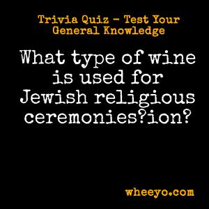 Wine Trivia Questions_Jewish Ceremonies
