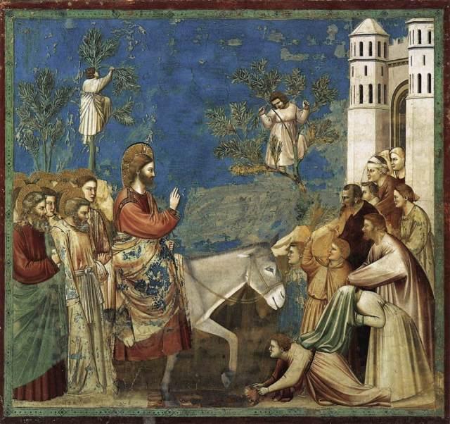 01A1 Giotto De Bondone--Entry-Into-Jerusalem-1304-1306
