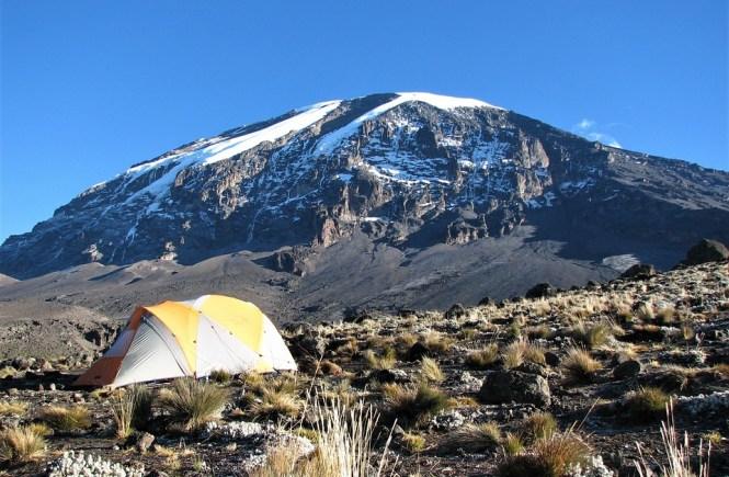 Mount Kilimanjaro camp, Tanzania, Africa