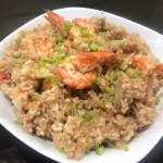 easy recipe: rice cooker shrimp fried rice