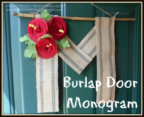 Burlap Door Monogram