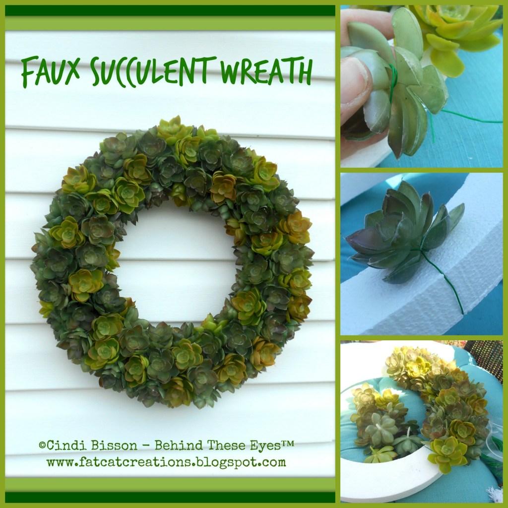 Faux Succulent Wreaths