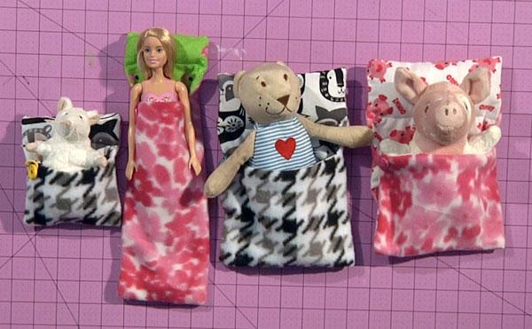 Stuffed Animal & Barbie Sleeping Bags