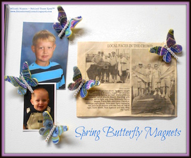 Spring Butterfly Magnets