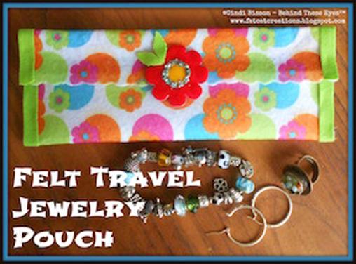 Felt Travel Jewelry Pouch