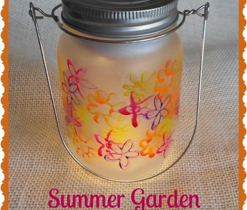 Summer Garden Mason Jar Luminary