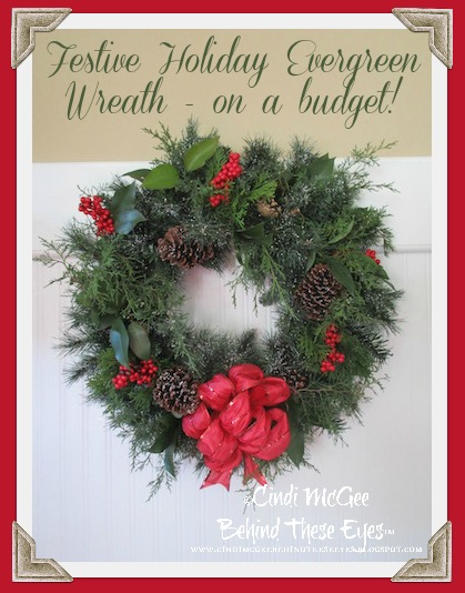 Festive Holiday Wreaths on a budget!