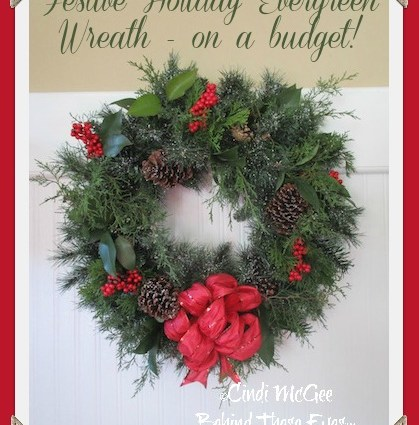 Evergreen Wreath on a Budget