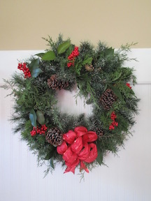 Evergreen wreath on a budget HOW 2