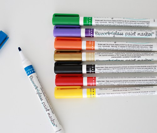 DecoArt glass paint markers