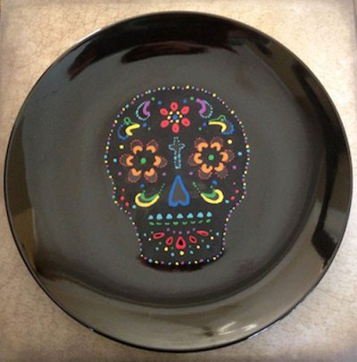Day of the Dead Plate