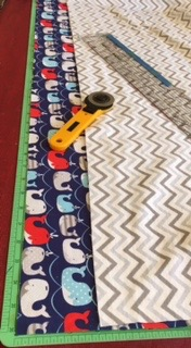 Actors Away Baby Blanket Step 1 and 2