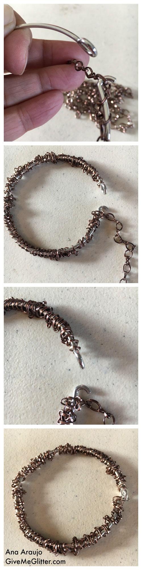 Penny Bracelet Chain Weaving