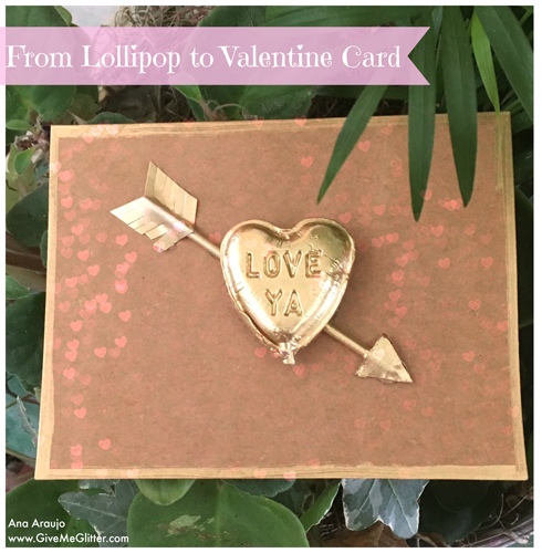 Lollipop Valentine Card