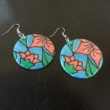 Floral Disc Earrings