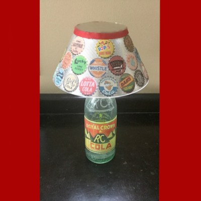 Vintage Soda Bottle Lamp
