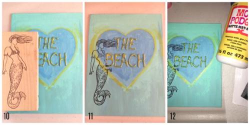 The Beach steps 10 -12