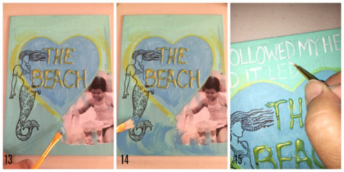 The Beach steps 13 - 15