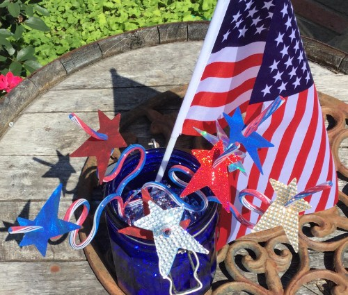 Easy Patriotic Star Straw Toppers