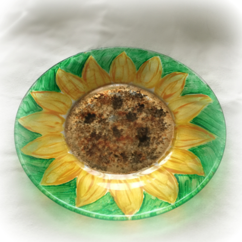 Stained Glass Sunflower Lunch Plates