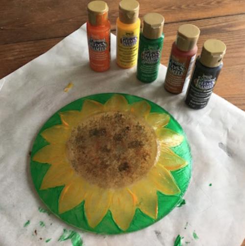 Sunflower Plate How 3
