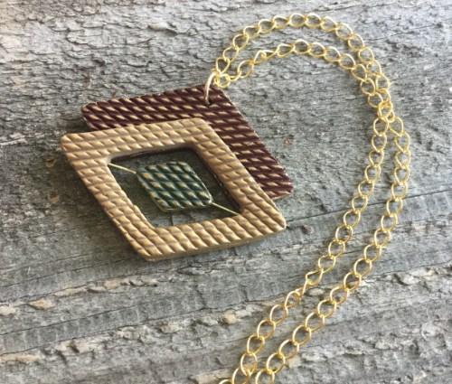 Diamond Pattern Pendant