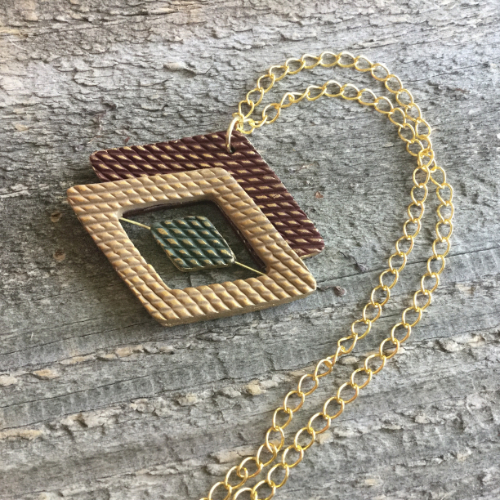 Diamond Pattern Pendant