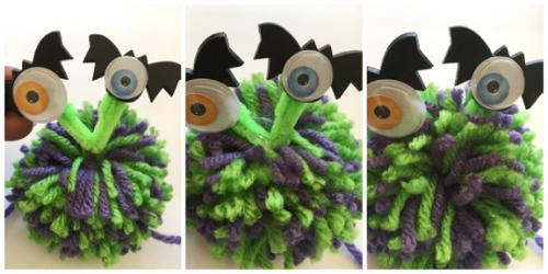 Pom Pom Monster's Eye's Step 3