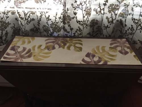 Stenciled Tropical Table Runner 7