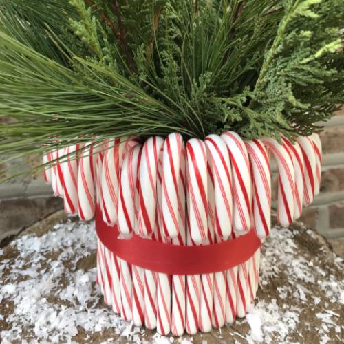 Candy Cane Vase