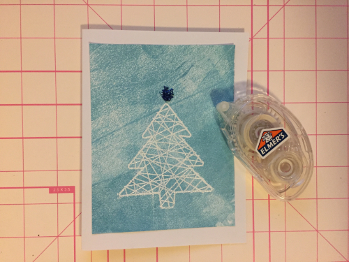 Embossed Winter Christmas Card How 7