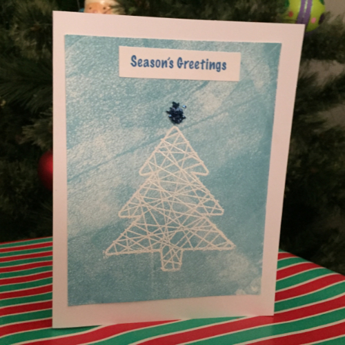 Embossed Winter Christmas Card