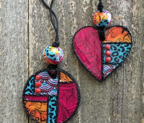 Bohemian Heart & Disc Pendants