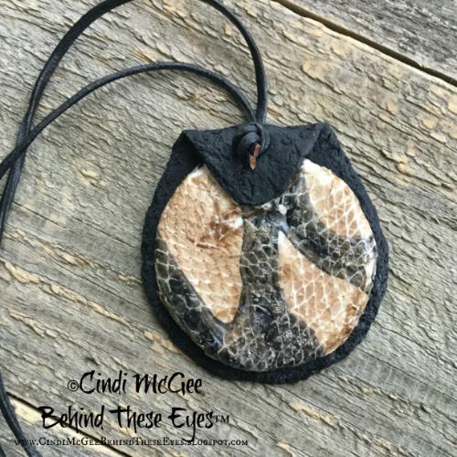 Snakeskin Polymer Clay Pendant (watermarked)