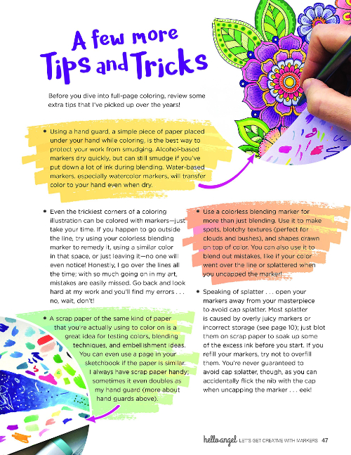 Let's Get Creative with Markers: A few more Tips and Tricks