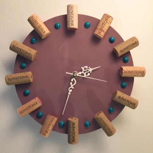Sunstone Wine Cork Clock