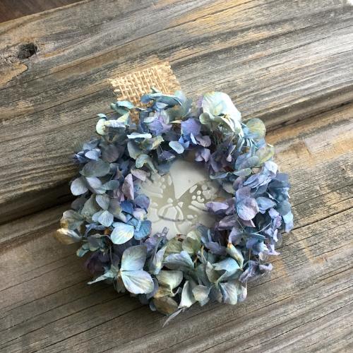 Dried Hydrangea Mini Diffuser Wreath