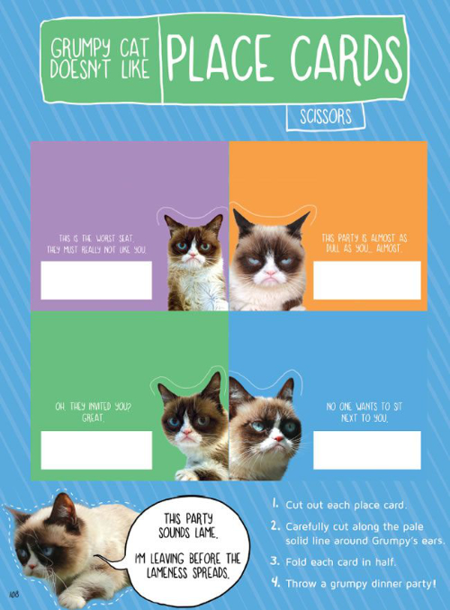 Grumpy Cat Doesn't Like Place Cards