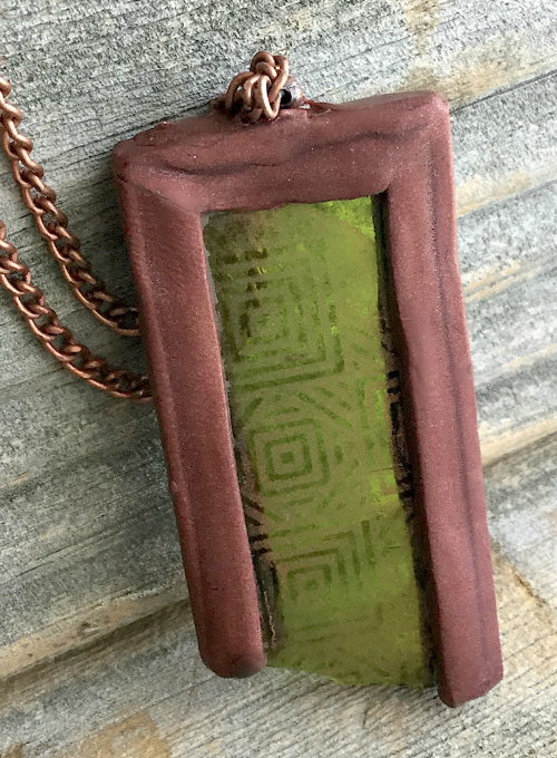 Silkscreened Etched Pendant How 9