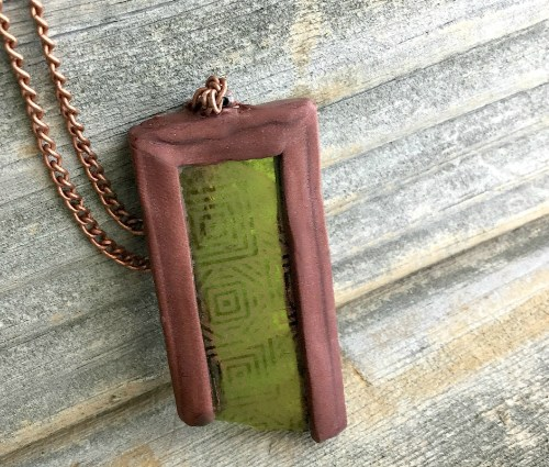 Silkscreened Etched Pendant