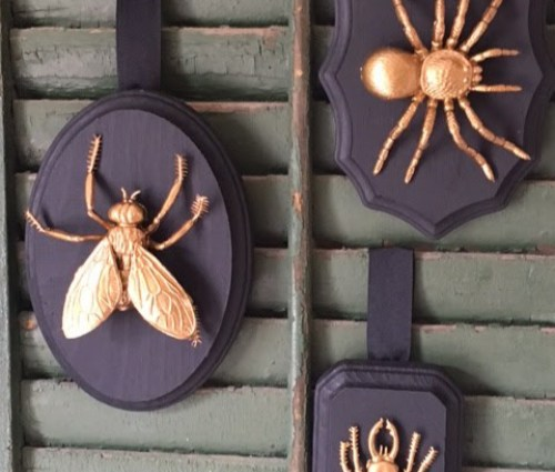 Gilded Insect Wall Plaques