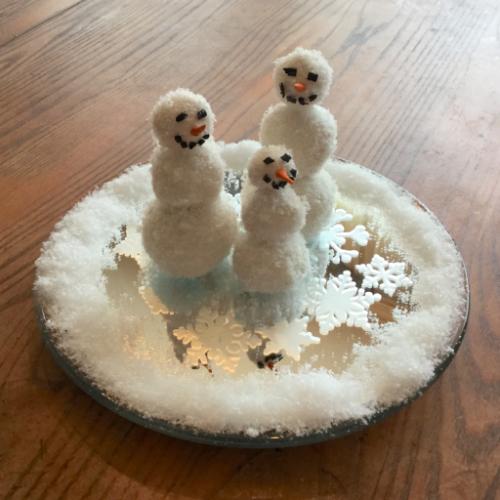 Winter Wonderland Snowmen Centerpiece