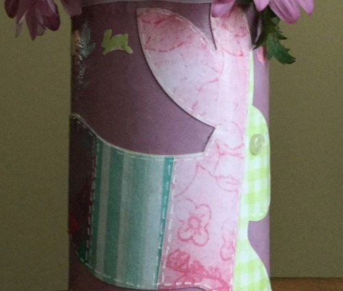 Decoupaged Bunny Easter Vase