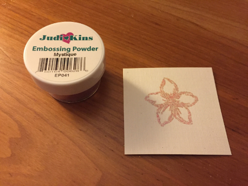 Embossed Flower Greeting Card How 3