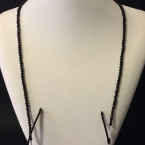 Elegant Black Beaded Eyeglass Necklace