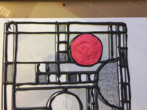 Simulated Stained Glass Sun Catcher How 3
