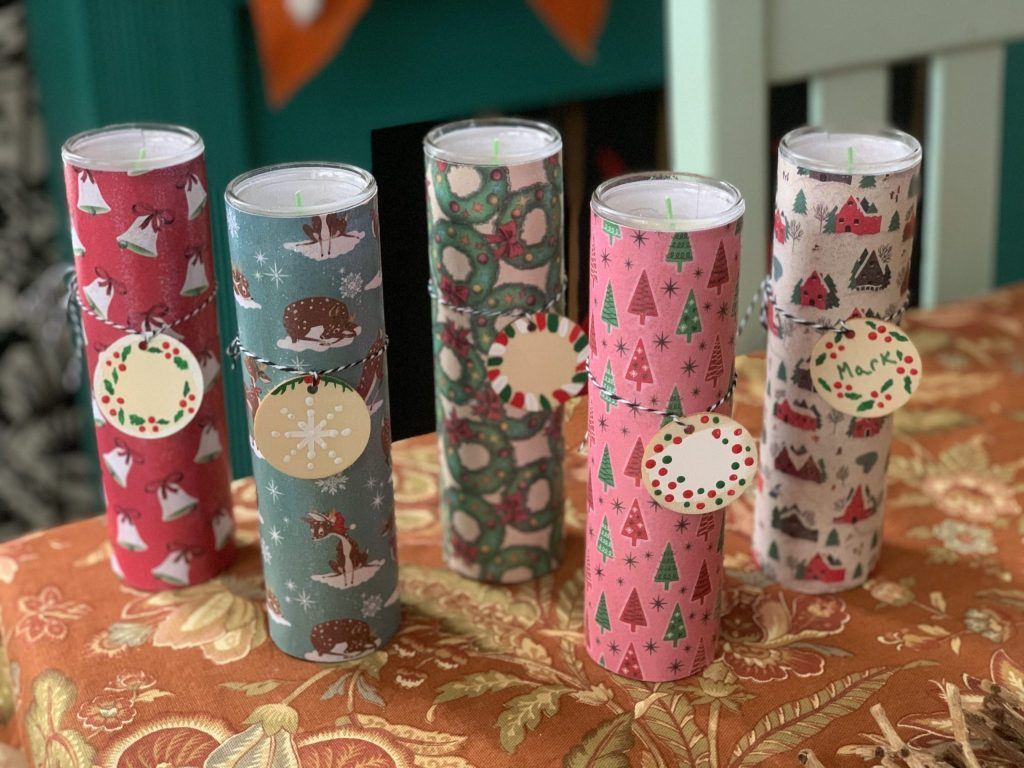 Sparkly Holiday Candles